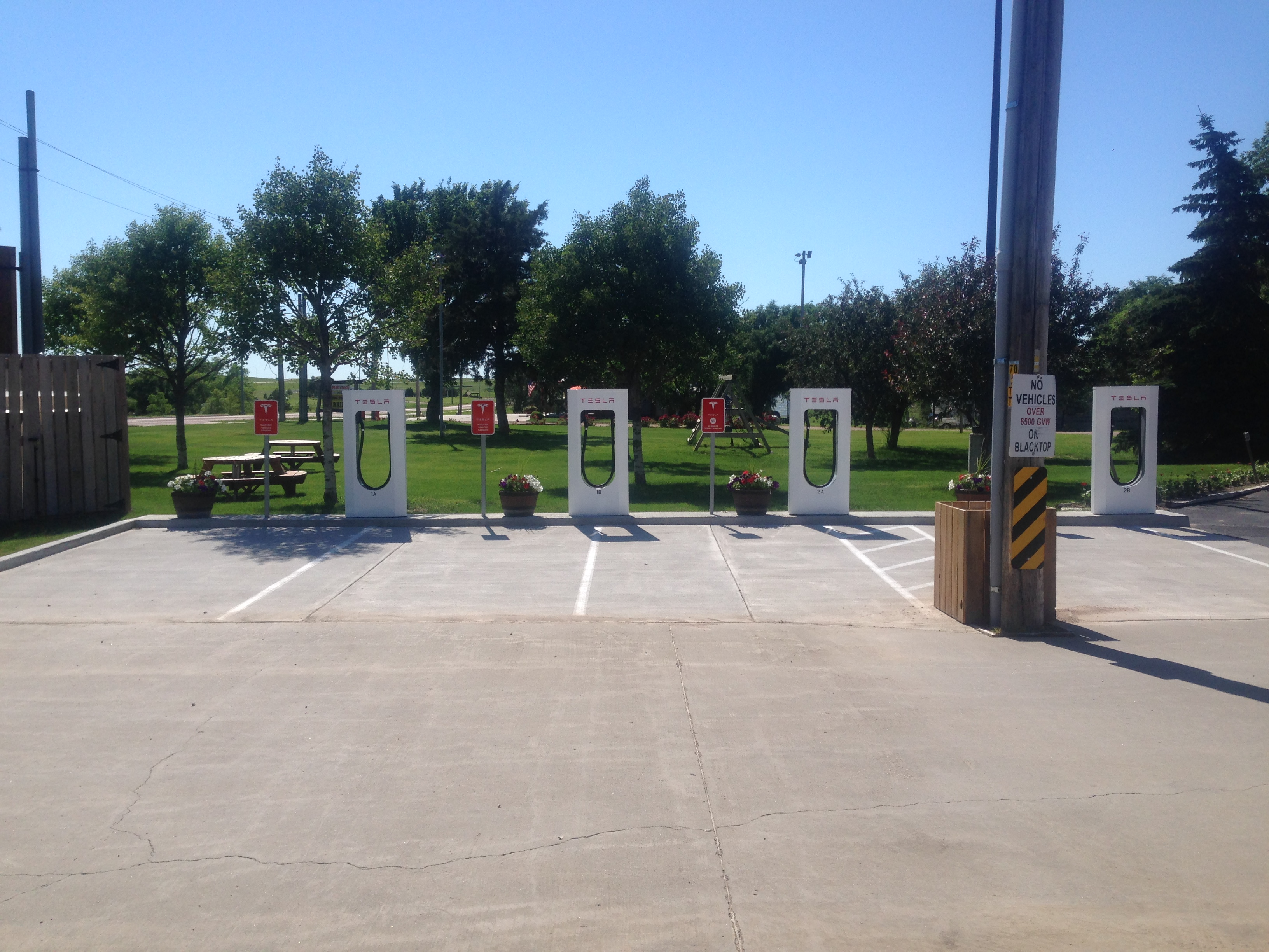 Tesla chargers in Murdo, SD