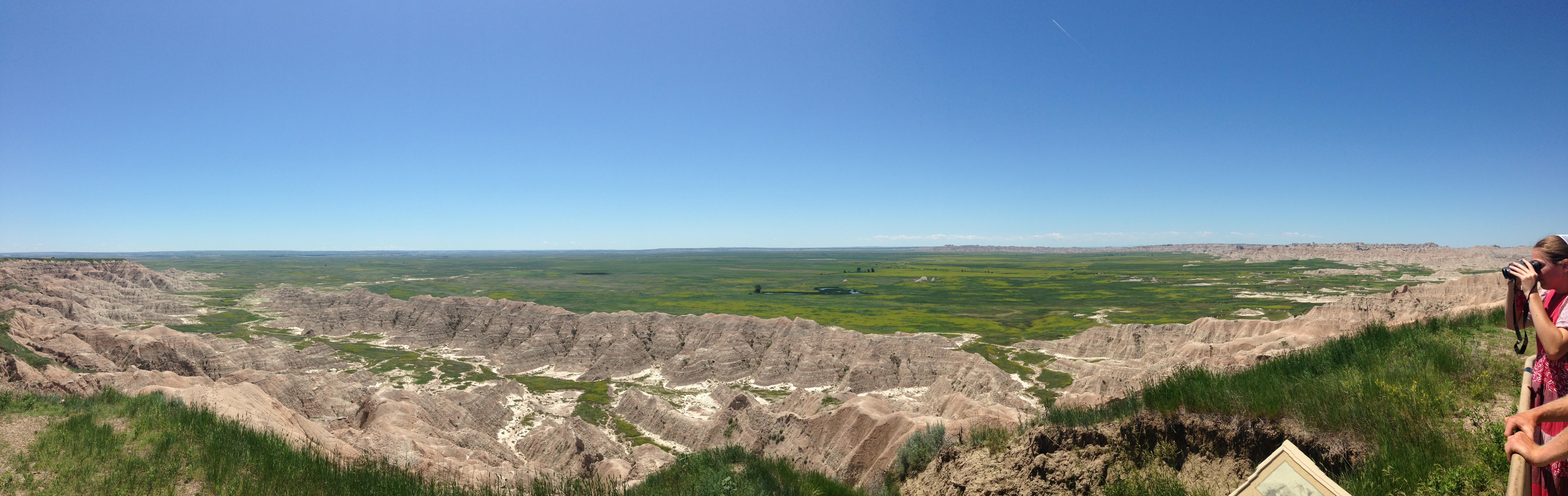 panorama of Badlands
