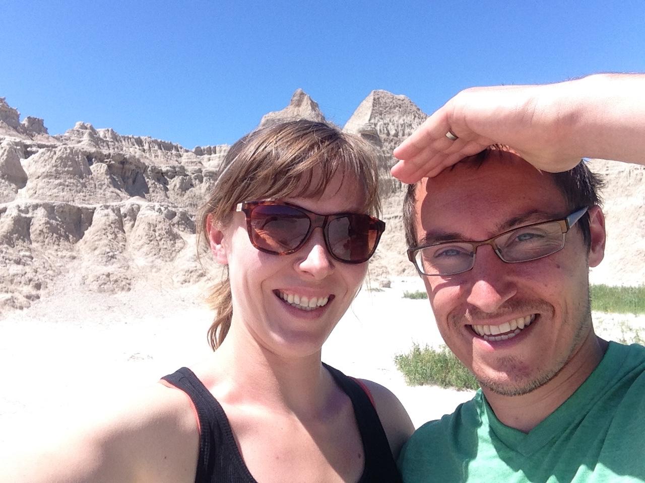selfie in the Badlands