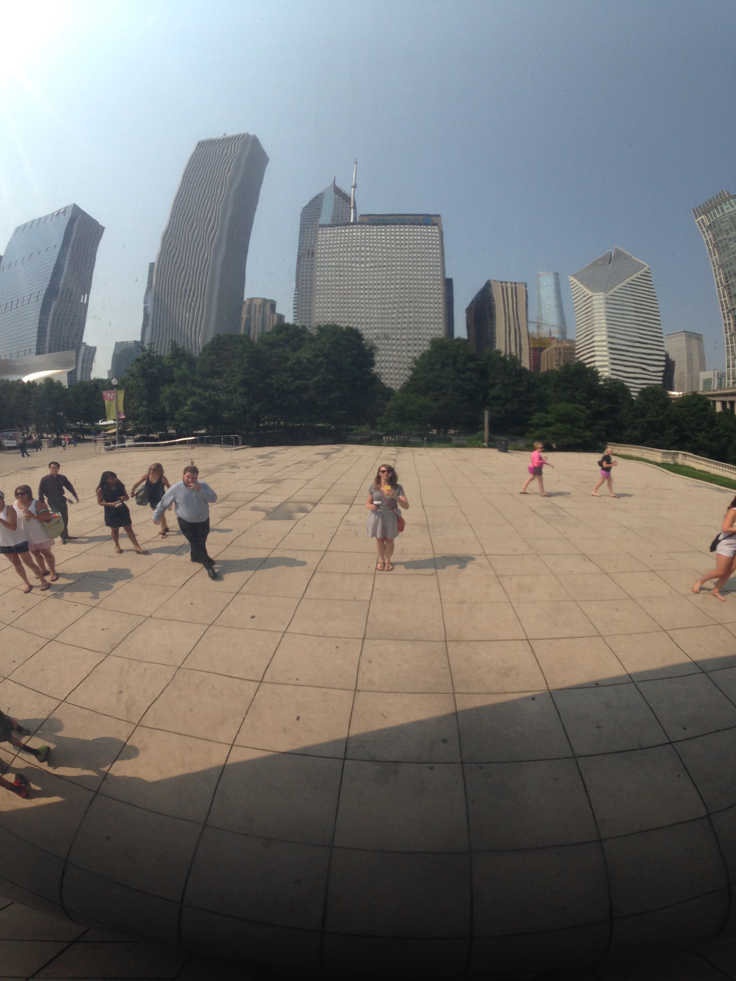My reflection in the Bean