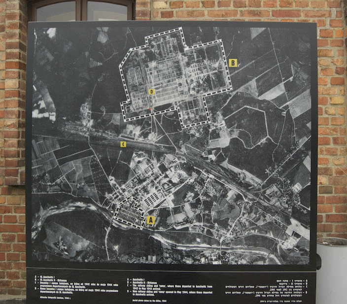 Aerial of Auschwitz