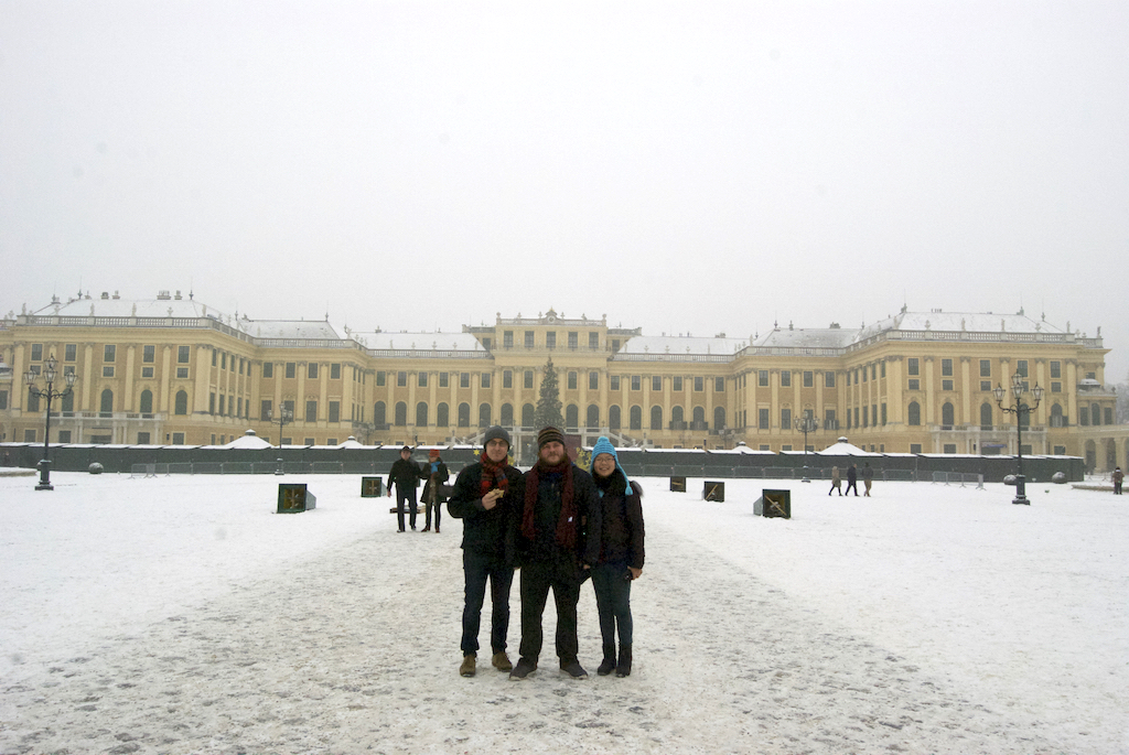 Schonbrunn with Michael and Tiff
