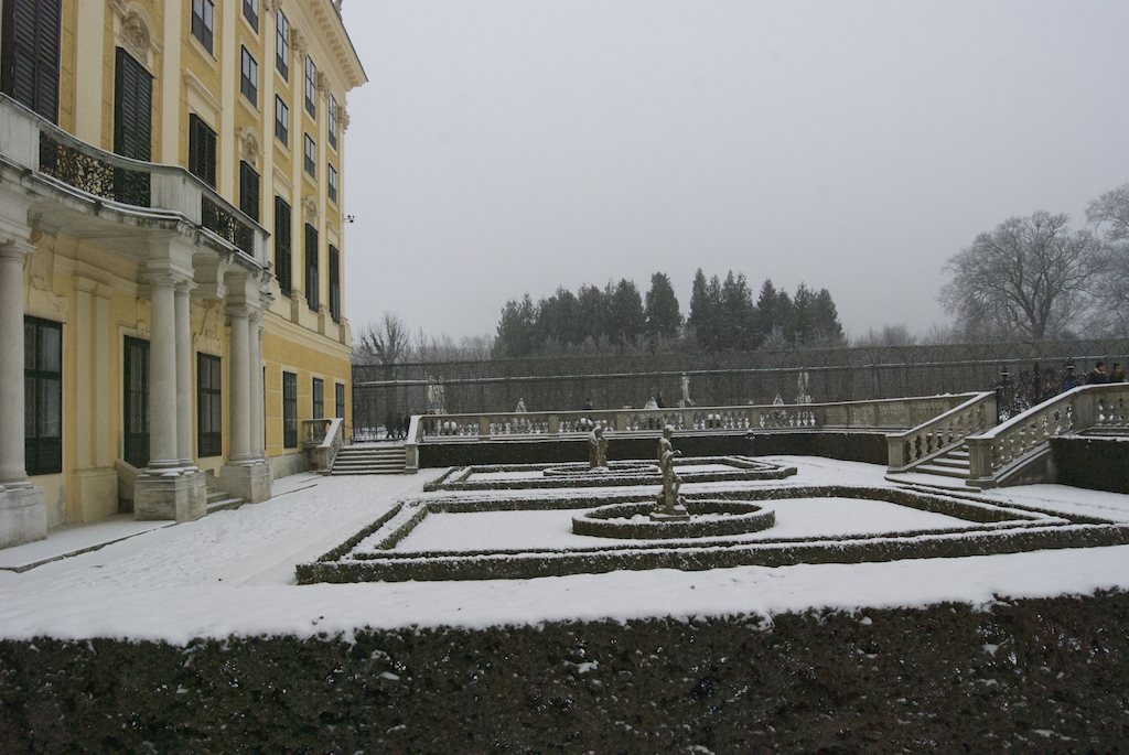Schonbrunn in snow