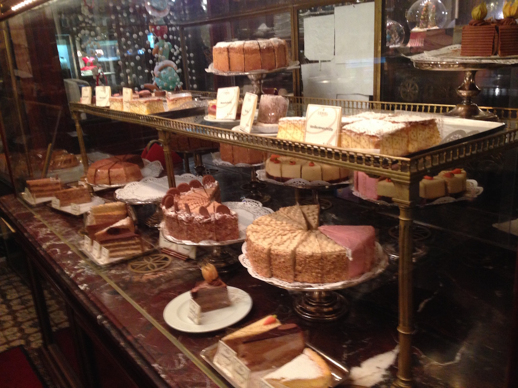 Cakes at Demel
