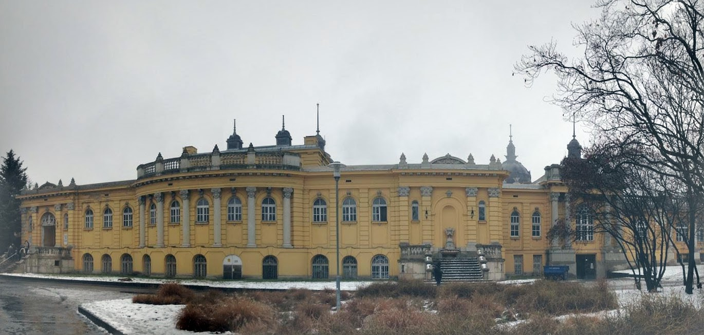 Panorama of Szechenyi Baths building